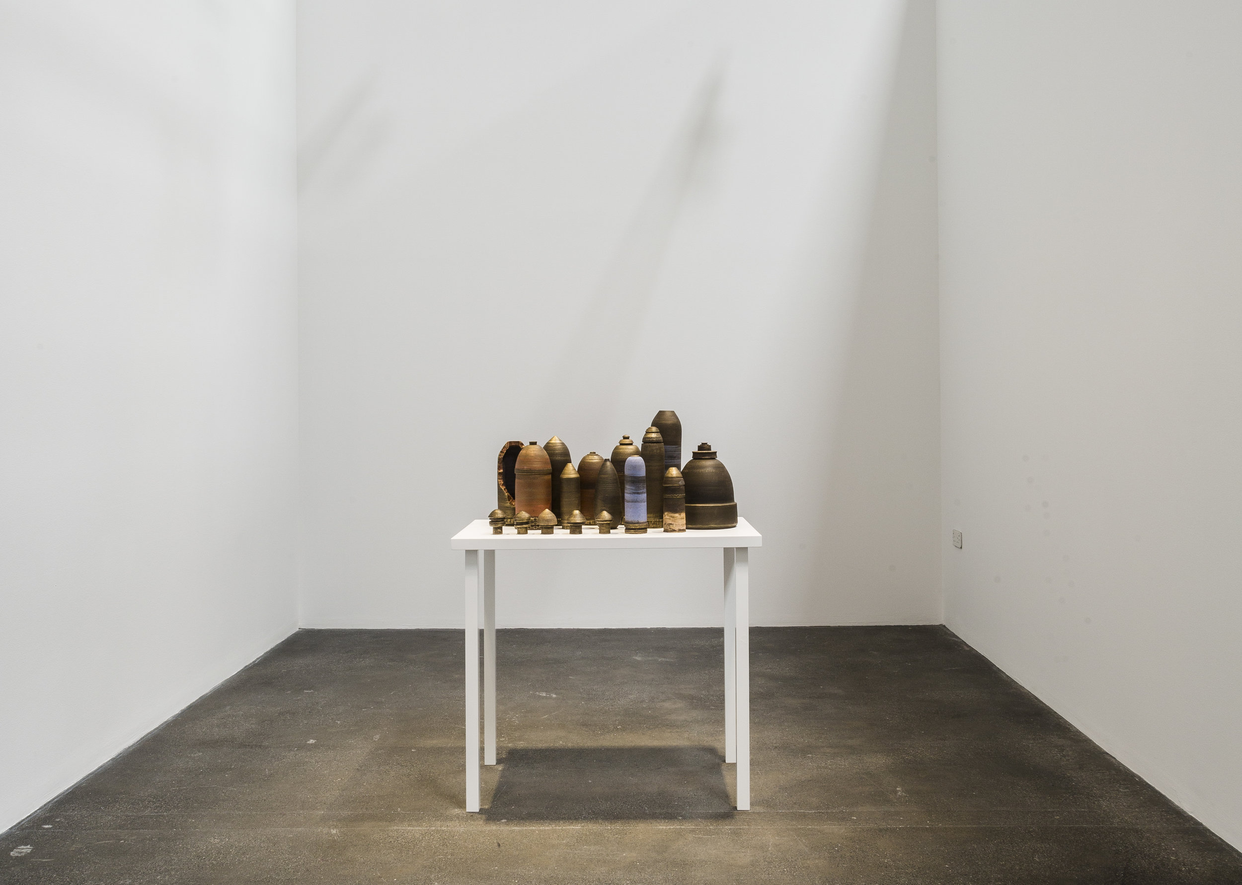Title: Still Life Date: 2014 Medium: glazed ceramic and acrylic Size: dimensions variable
