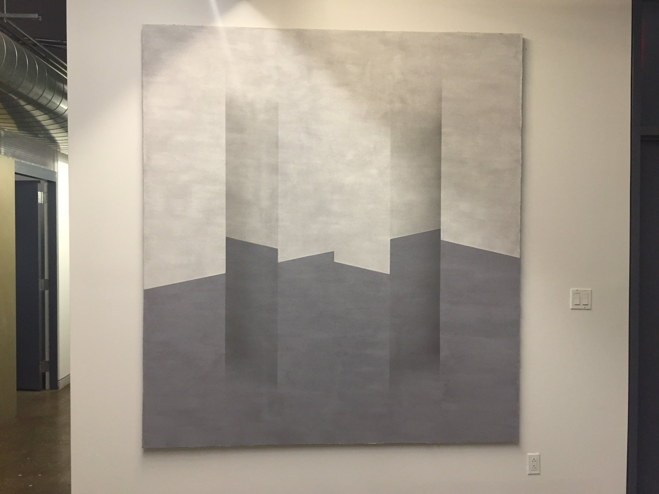 "Suzanne Song  Inter-Inter  2011 Pumice on Canvas 88"" x 80"""