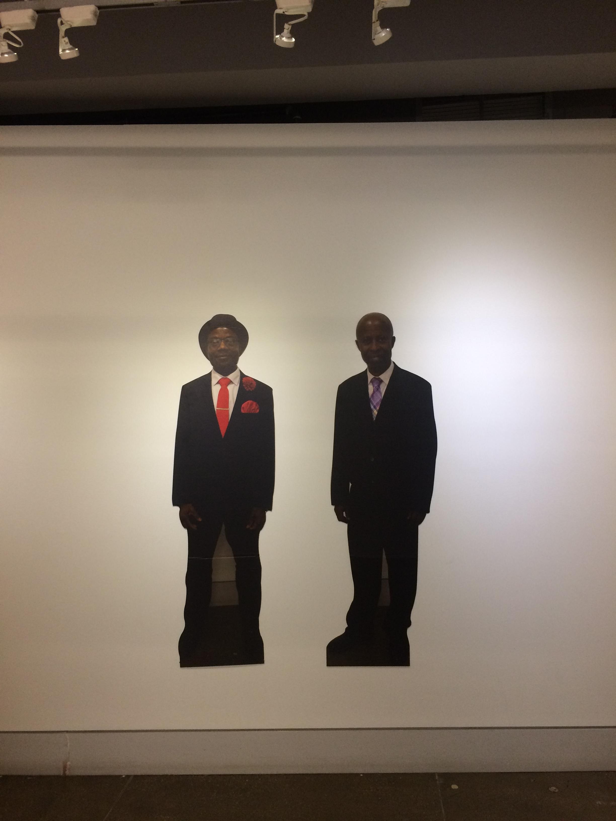 Joshua Ene(L) &Ernest Kuffour (R)  Two Dapper Dudes  Digital Print on Cardboard 2017
