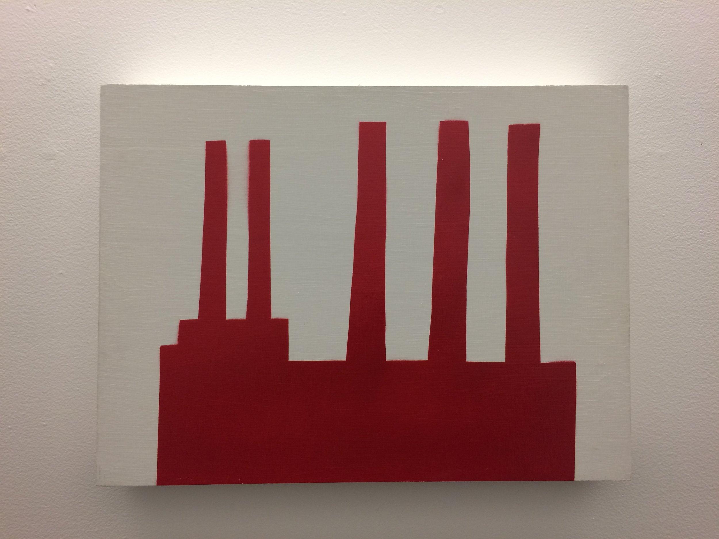 Bill Carroll  Red 28  Spray Paint on Panel 2014