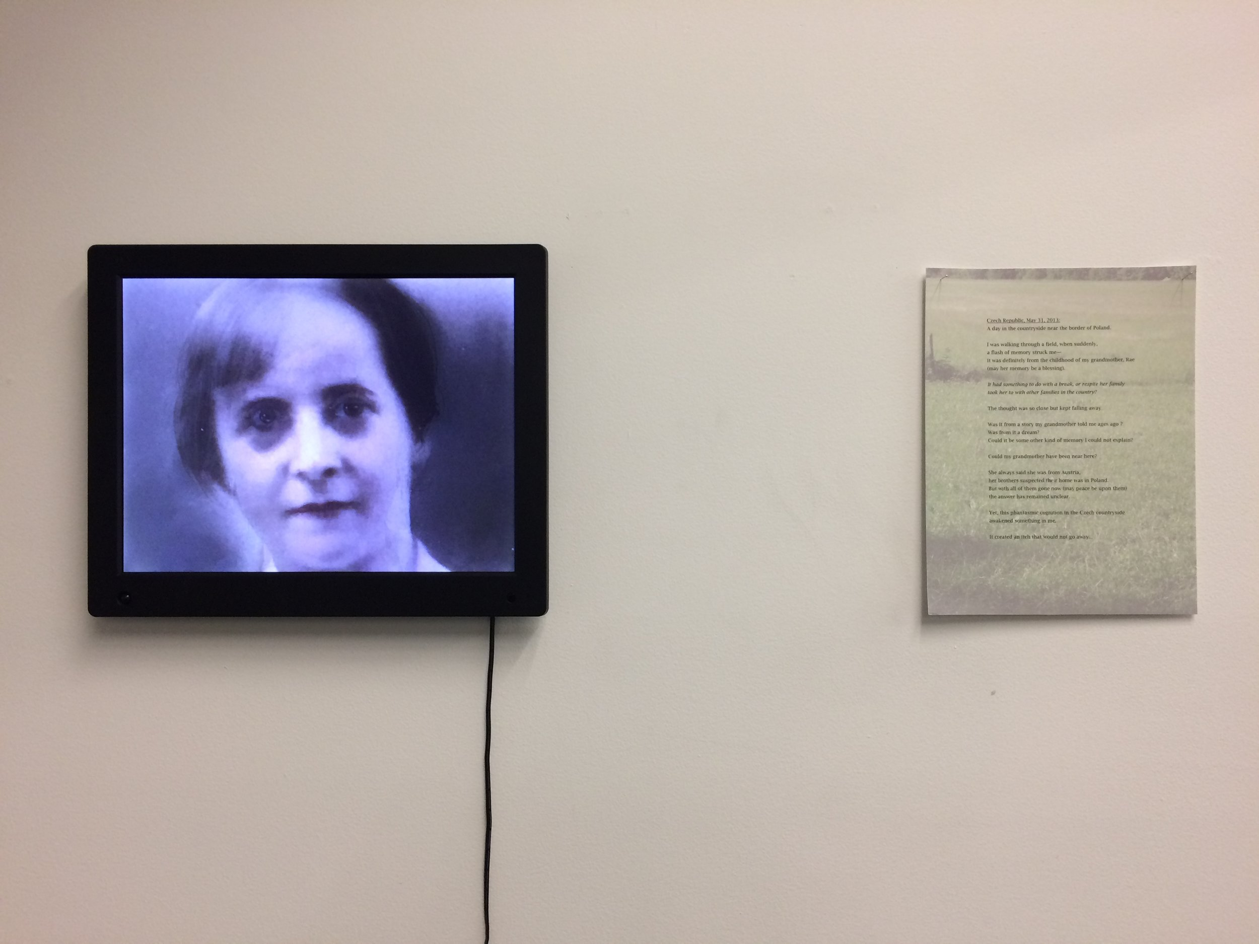 Michelle Levy  Ibbur Achelach  Digital Animation with accompanying archival inkjet print 2017