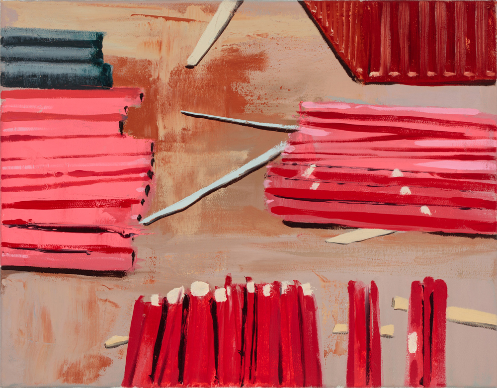 Piles of Red  2016, oil on canvas  14x18 inches