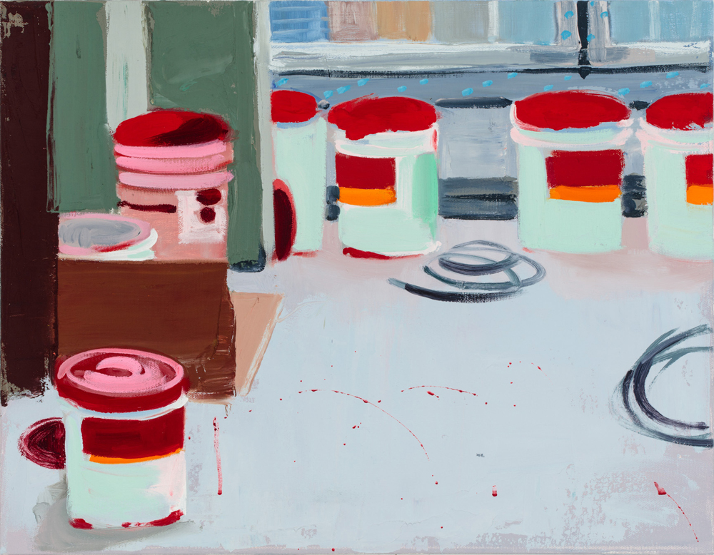 Seven Buckets  2016, oil on canvas  14x18 inches