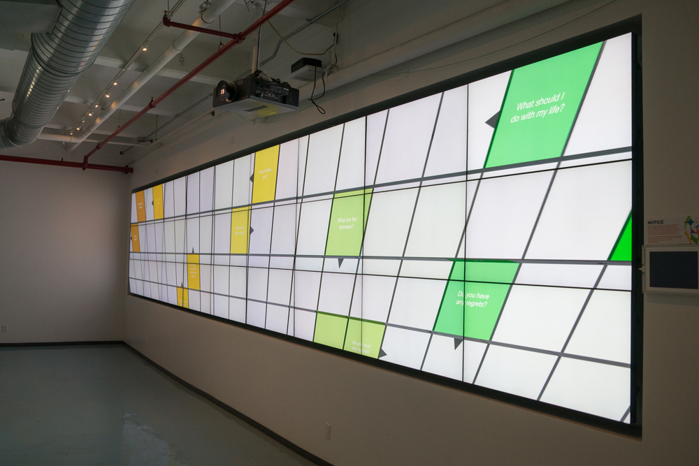 Crossword Project,  2017 Interactive Video Installation, video wall with 27 monitors Made in NY Mediacenter by IFP Dumbo 2017