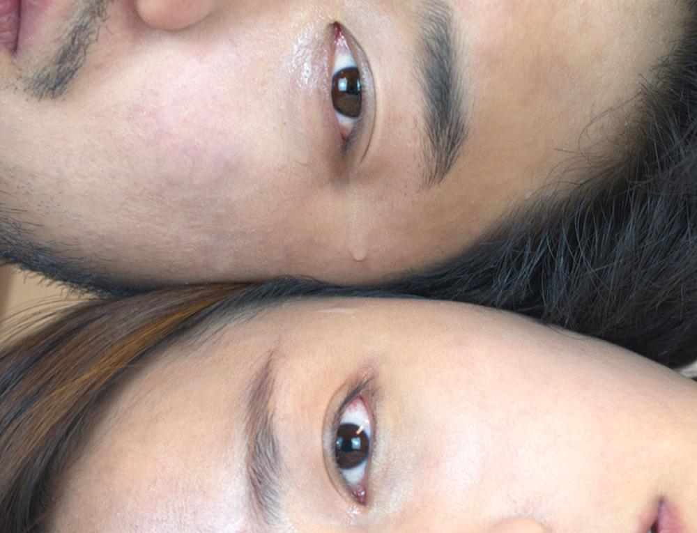 "Sharing Tears , 2015 Photograph 3.5"" x 2.5"""