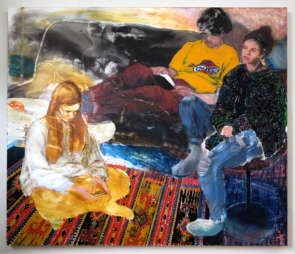 Gil, Liran, and Yonatan , 2017 Oil on Linen 60in x 70in