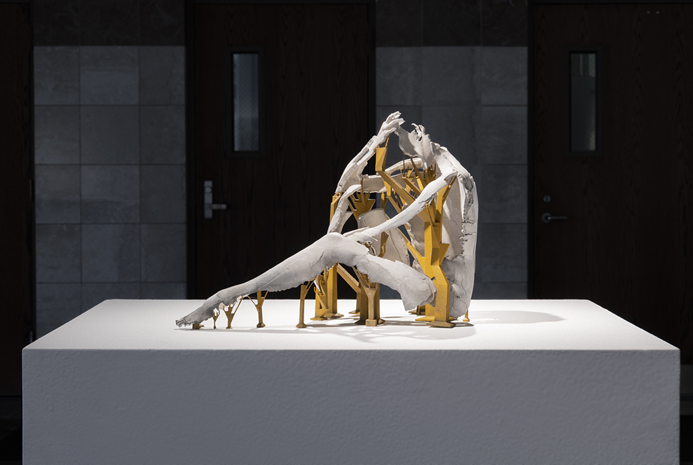 Machines for Suffering V , 2018 Laser-sintereed nylon (3D print, from 3D laser scan); gesso, acrylic pigment Life Size