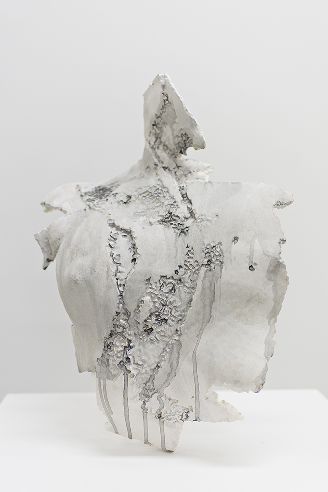 Torso of a Woman (Degraded Fragment) , 2013-2017   Laser-sintereed nylon (3D print, from 3D laser scan); gesso, acrylic pigment Life Size