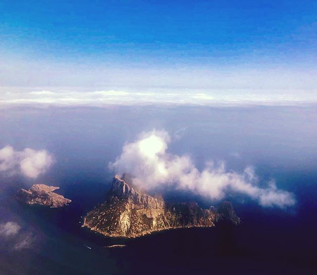 Es Vedra in all her magnificent glory ☁️💙☁️ #loveibiza #birdseyeview #esvedra