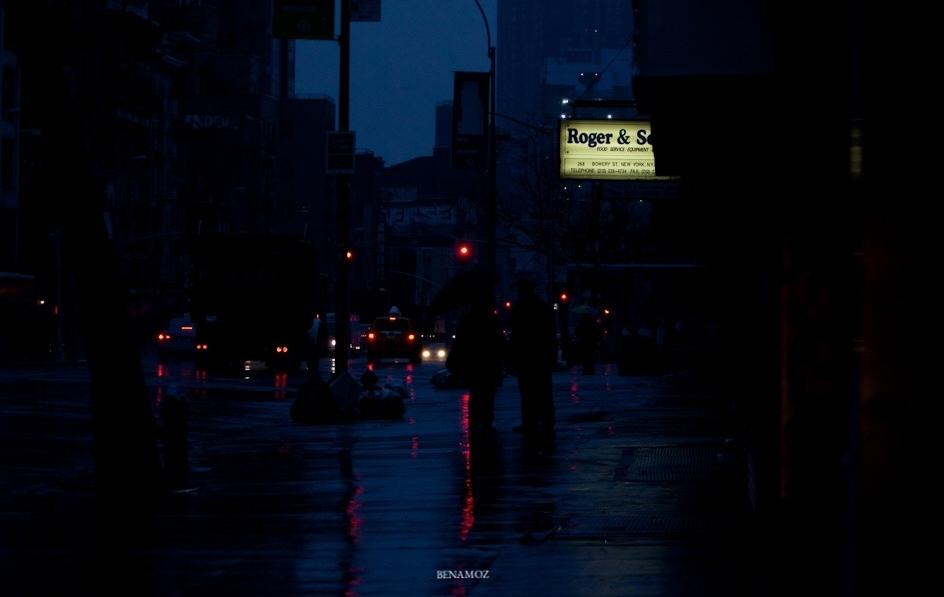 Night shot of NYC