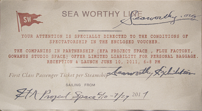 Sea Worthy - June 10 - July 29, 2011
