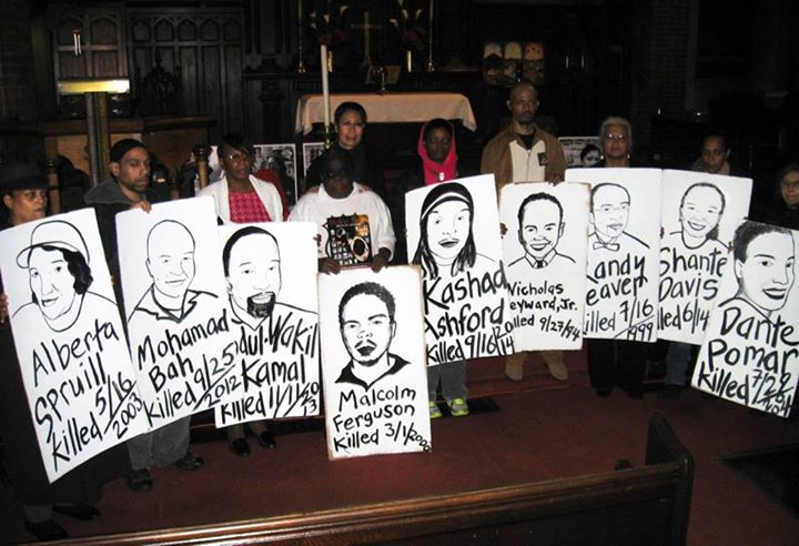 Stolen Lives Induction Ceremony 2014 at St. Mary's Episcopal Church, Harlem. Photograph courtesy of Kathie Cheng.