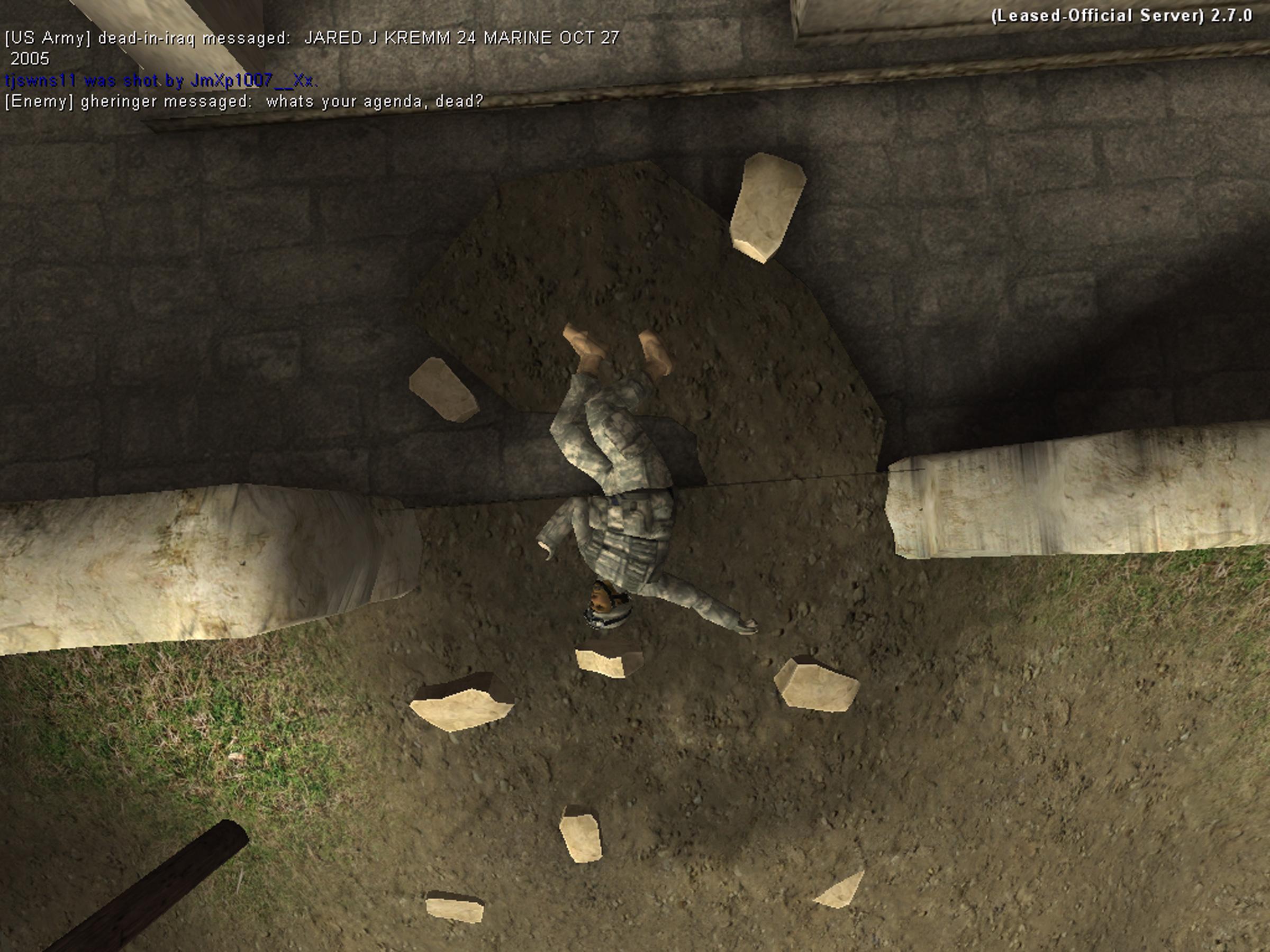 "Joseph DeLappe, ""dead-in-iraq"", 2008, Still from projected video, 18:56"