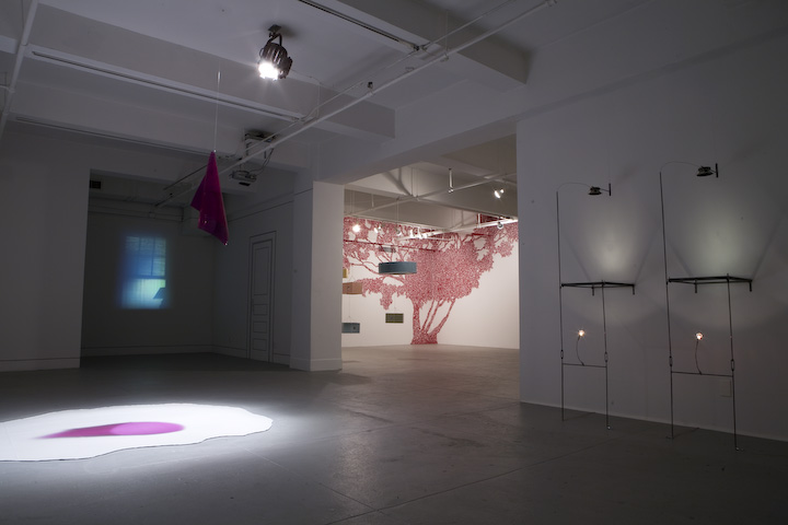 Installation view of In Residence