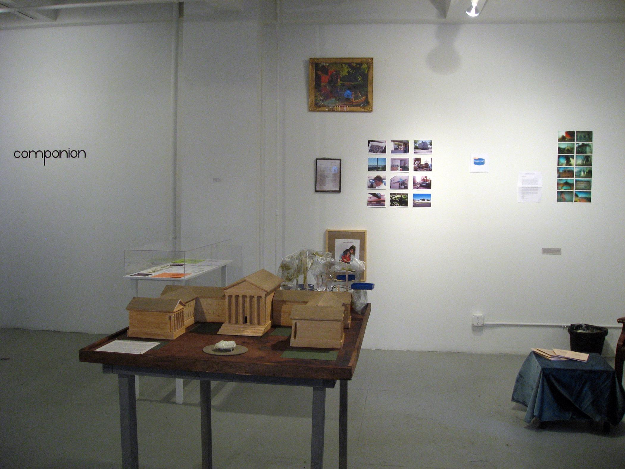 Installation view of Companion