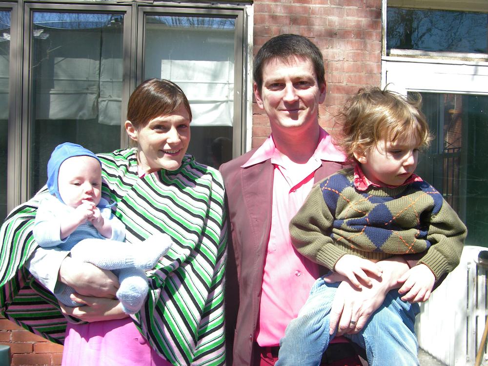 Choreographer Andrew Simonet, his wife Elizabeth, and their sons Nico Wolf & Jesse Tiger. (Photo courtesy of Andrew Simonet)