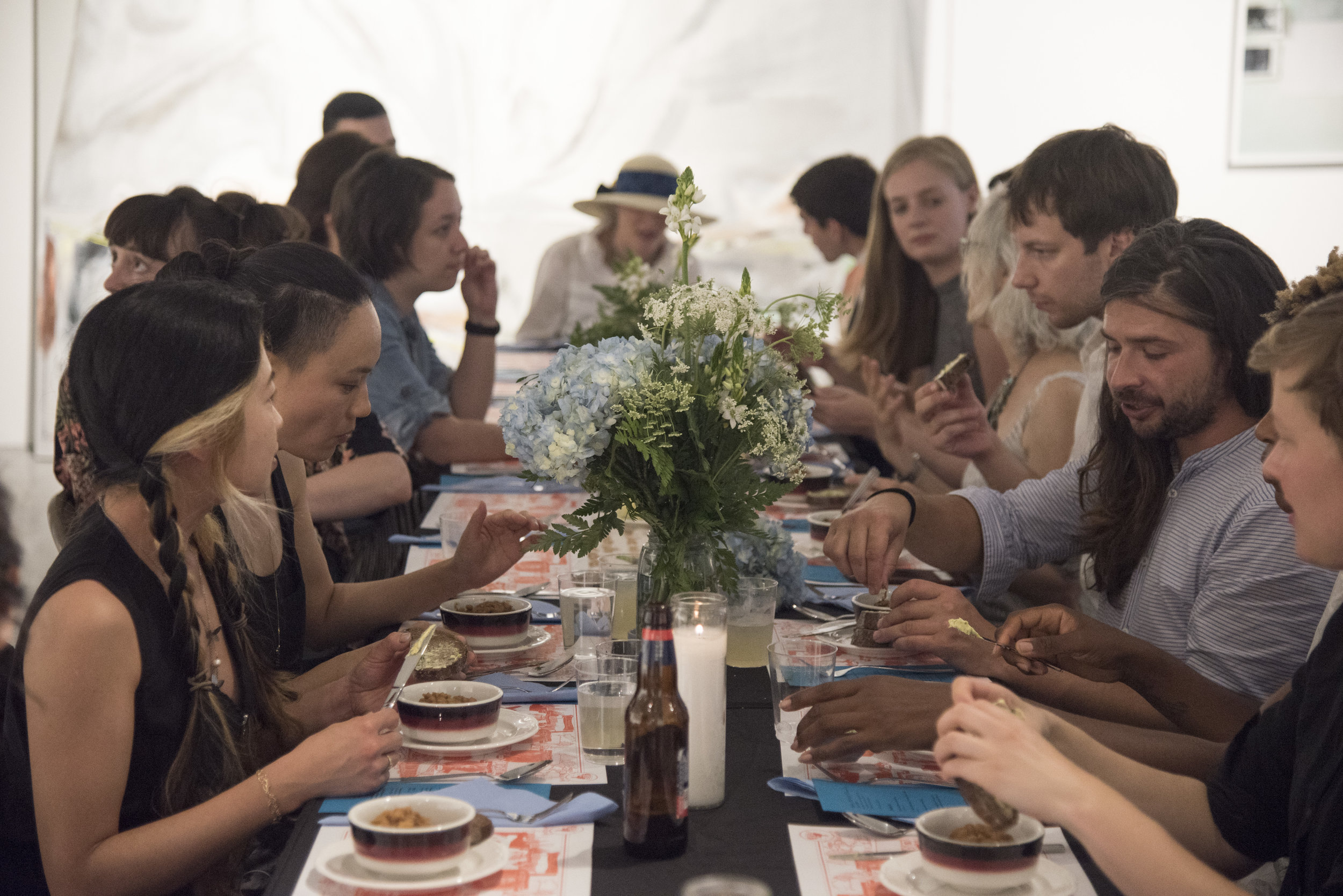 Past Live  (June 22 - July 22, 2017), the 2016/17   SHIFT  Residency  Exhibition Event:  Setting 1880-1920 / Dinner Party  by Liliana Dirks-Goodman