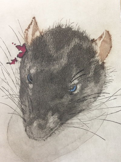 Madeline D'Aversa   Lab Rat , 2015 Etching and aquatint (a la poupee)