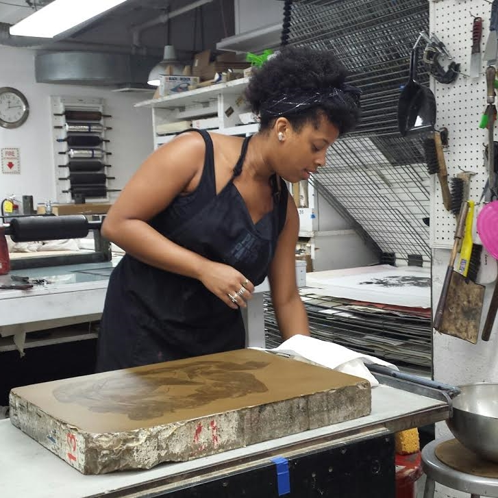 Jazmine Catasus,  monitor since 2013   Jazmine received a BA with a printmaking focus from Hunter College. Interned at Dleu Donne, Pace Prints and Deb Chaney Editions. Jazmine can offer members assistance with etching and lithography. She is also a papermaker.