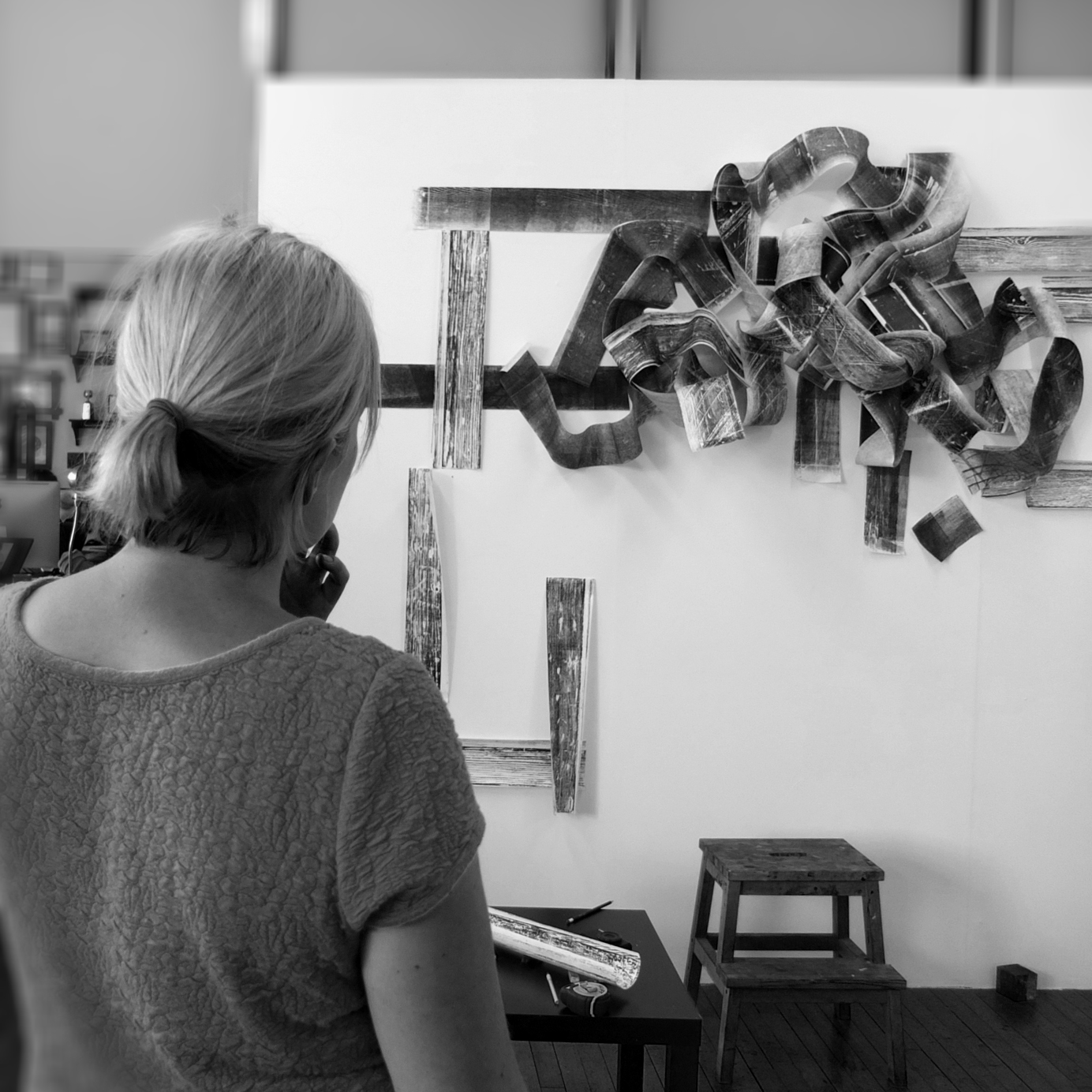Aoife Barrett, Intern, Fall '15  Aoife graduated from the University of the West of England with an M.A. in Multi-Disiciplinary Printmaking. Her work focuses on relief print, monoprint, etching and lithography combined with 3D installations.