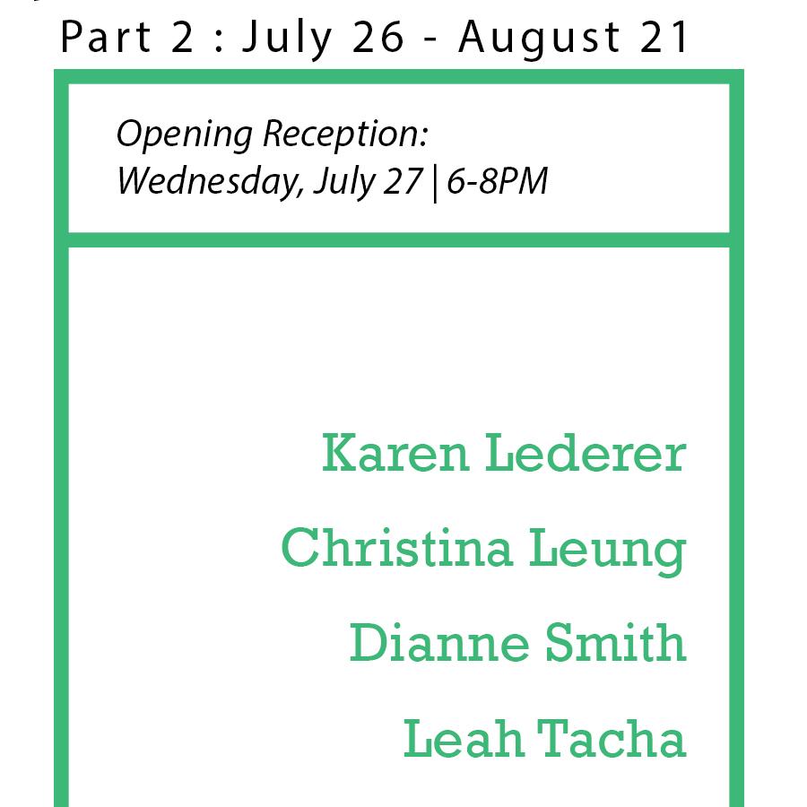 SIP Fellowship Summer Show: Part II Wednesday, July 27, 2016; 6-8PM