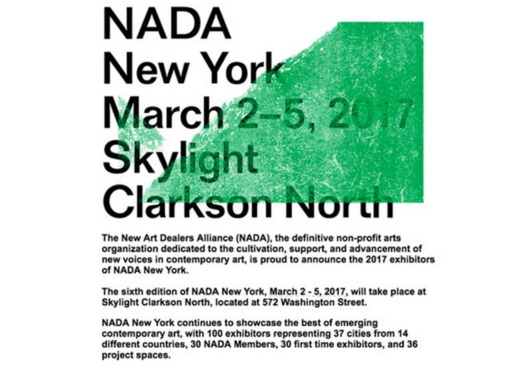 NADA: Cultural Partnership  March 2 - 5