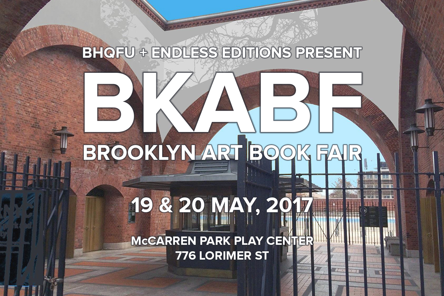 Brooklyn Art Book Fair  May 19 - 20