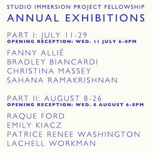 SIP Fellowship Annual Exhibition PART 2  August 8 - 26, 2018