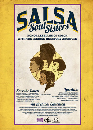 Salsa Soul Sisters w. the Lesbian Herstory Archives   May 9 - June 29, 2018