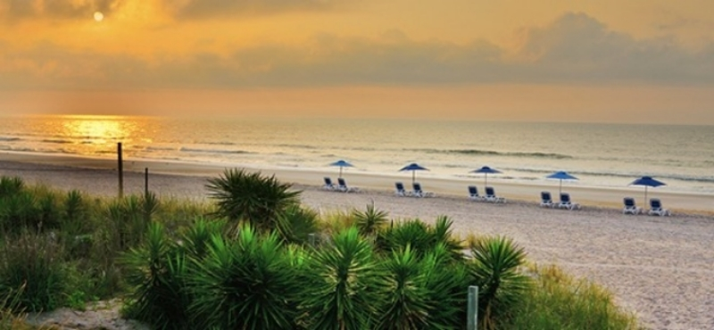 Our retreat beach, right after dawn: Wrightsville Beach, NC - a place for relaxed philosophical conversation and fresh new light for the issues of your life.