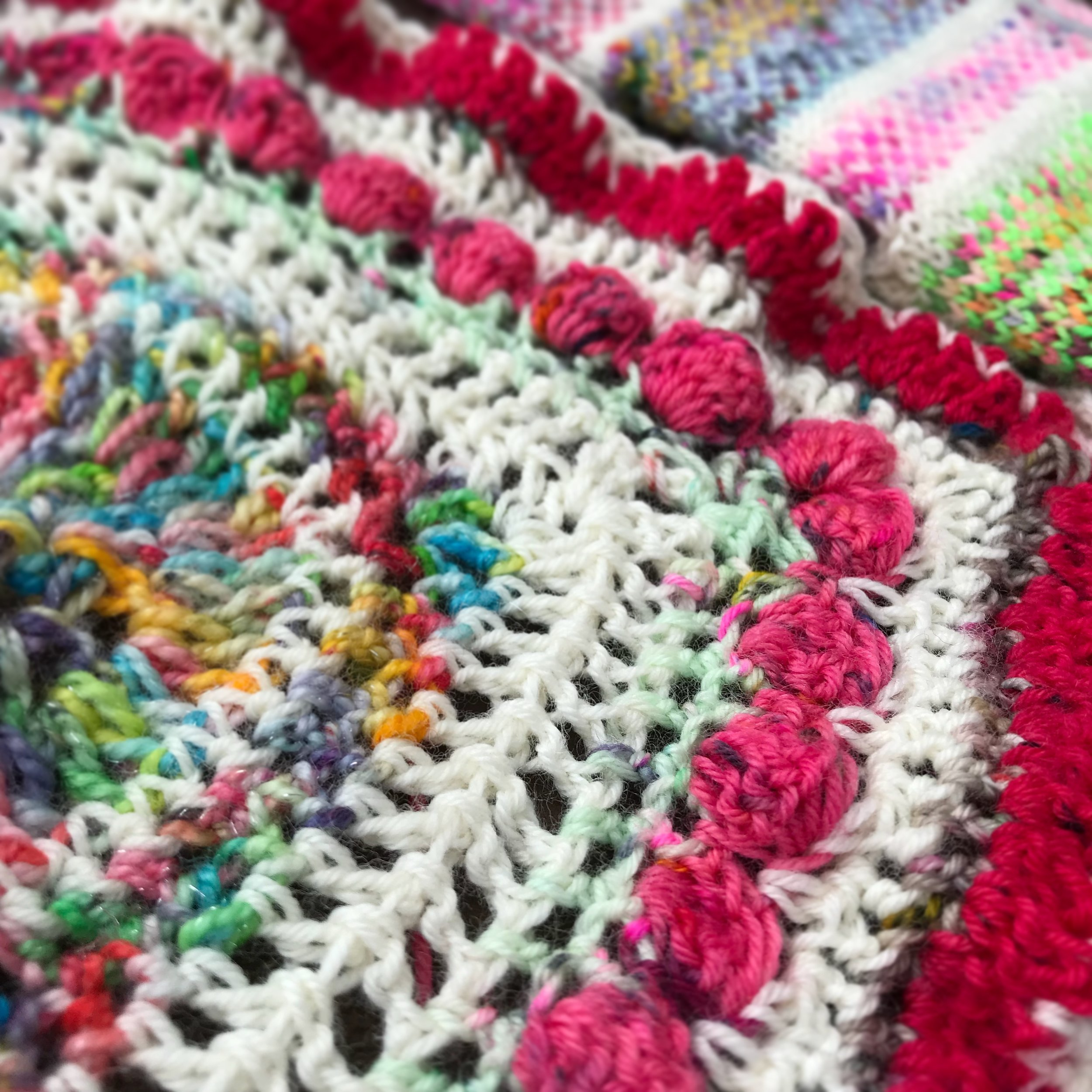 Scrappy Crochet - Nothing lends it self better to working with Wonderfull, scrappy bits of yarn than crochet! Crochet was my first yarn love and it appealed to me mostly due to its stash buster factor! I like to make it up as I go along however, I have found lots of fabulous crochet inspiration which is over on my Pinterest.