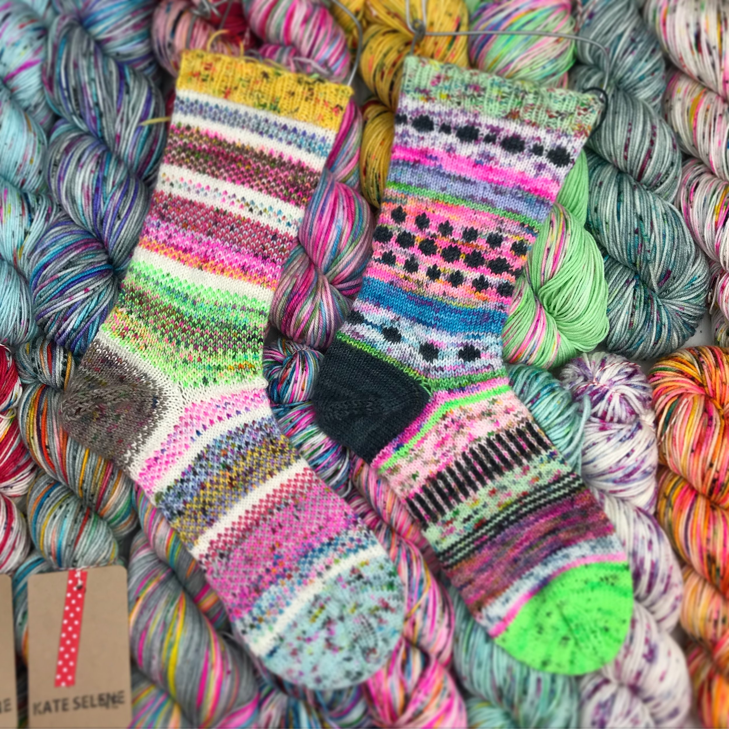 Scrappy Socks! - If you are going to talk about scrappy makes then I must insist on scrappy socks! there was a time when I wouldn't dream of trying socks, but once I found my perfect needles, 9