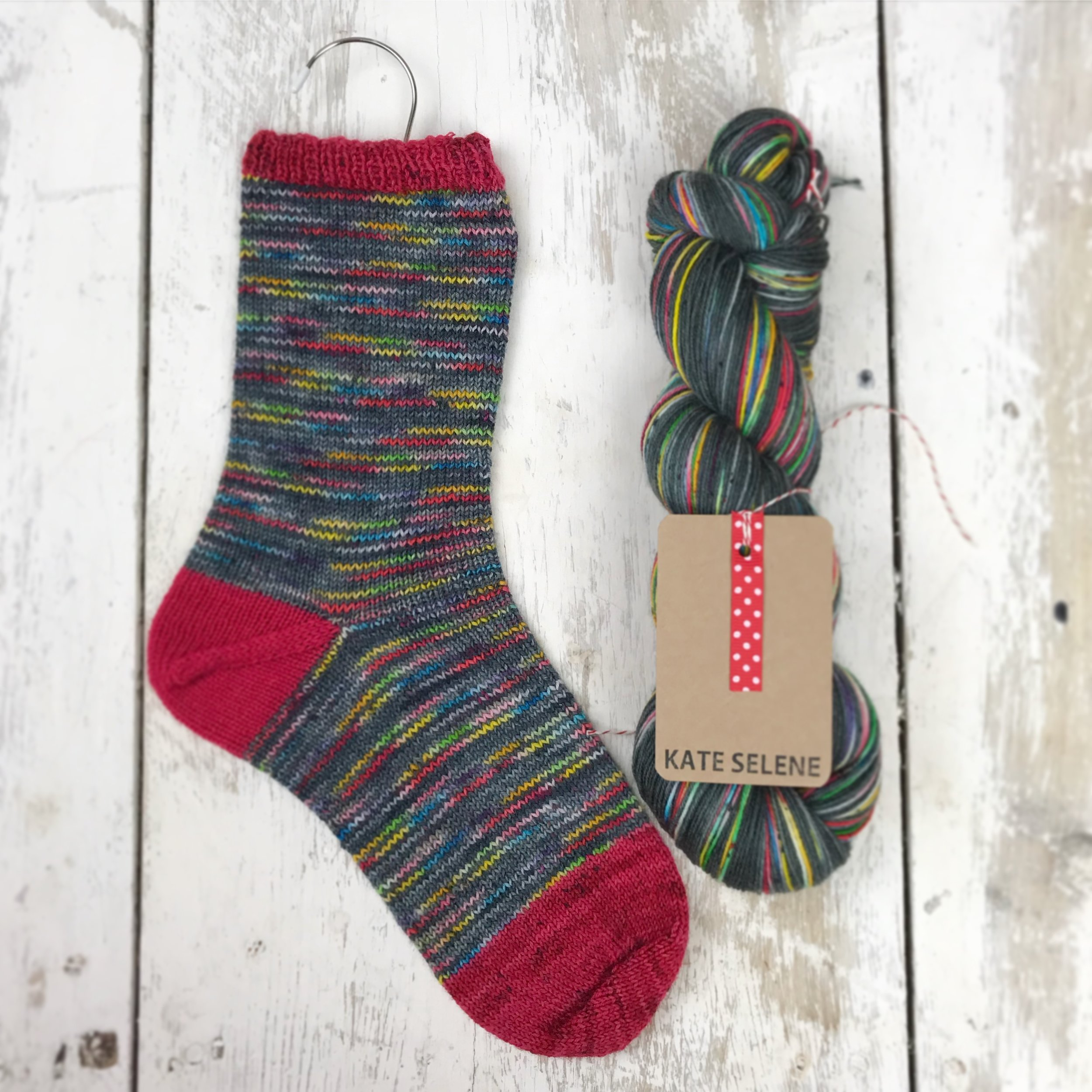 Keeping it simple. - if there is one thing I can admit to, and that is that I pretty much only like knitting the knit stitch, on circulars! which means over time I have learned that an easy way of making simple knitting look striking is to choose a yarn that is designed for socks. I create lots of yarns that pools in section to create a stripe like effect or you can look for a self striping yarn from one of the amazing indie dyers out there, there are so many to choose from! grab a bit of contrast colour for heels, cuffs and toes and you are away!