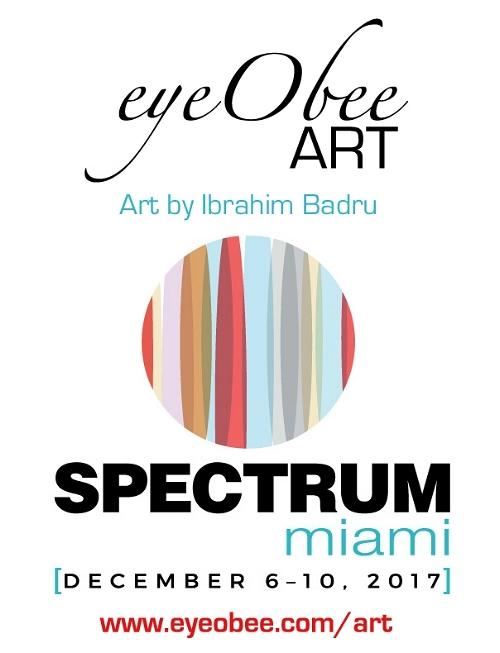 Spectrum Miami Art Basel week eyeObee Art by Ibrahim Badru