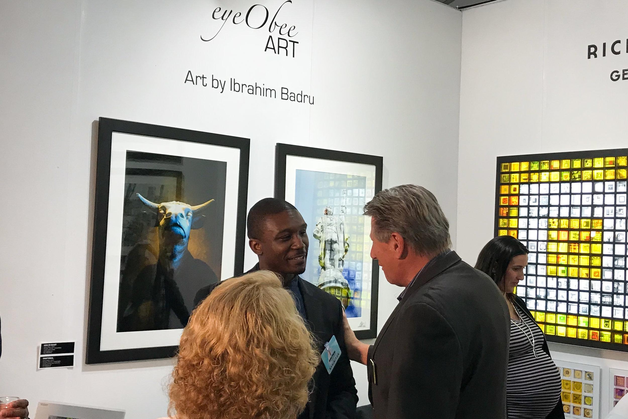 Spectrum Miami Art Basel eyeObee Art by Ibrahim Badru Photo solo Rick Barnett