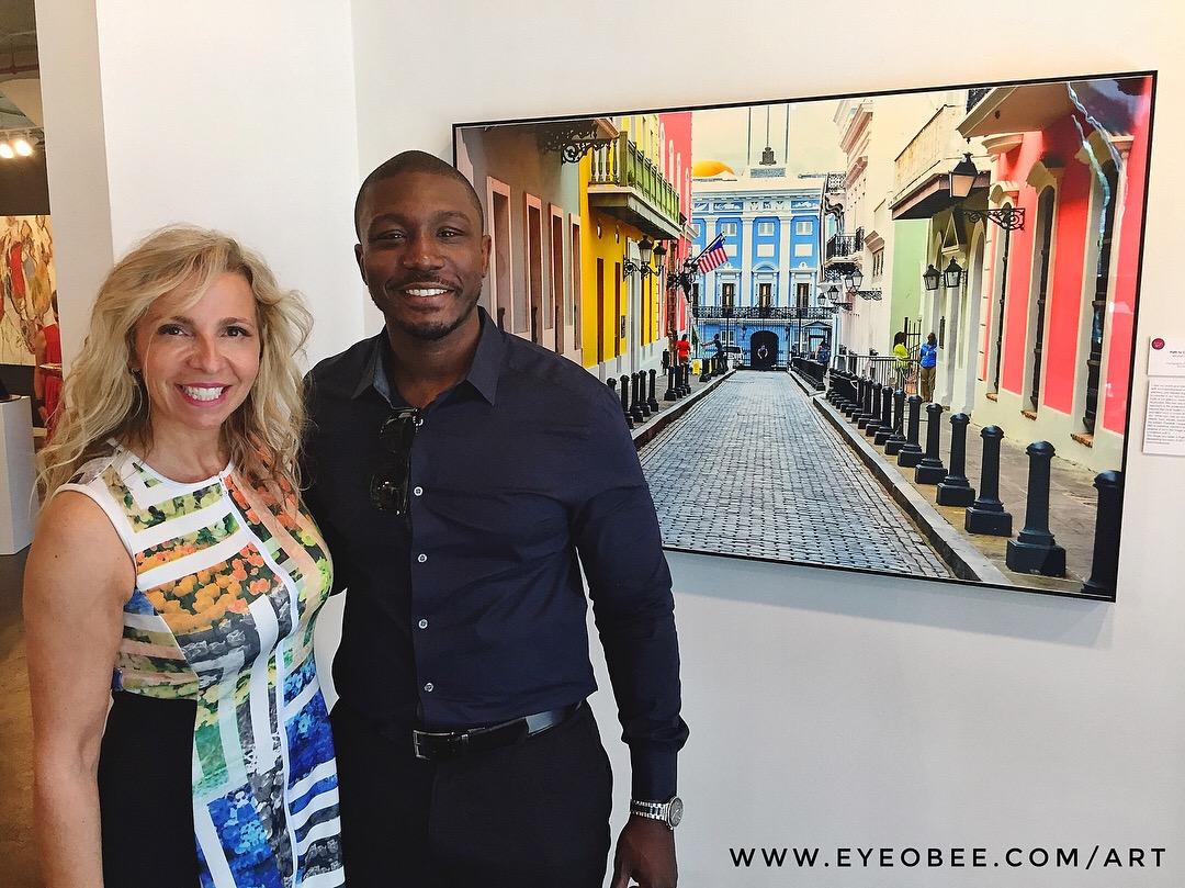 Litsa Spanos and Ibrahim Badru at ADC Fine Art Gallery