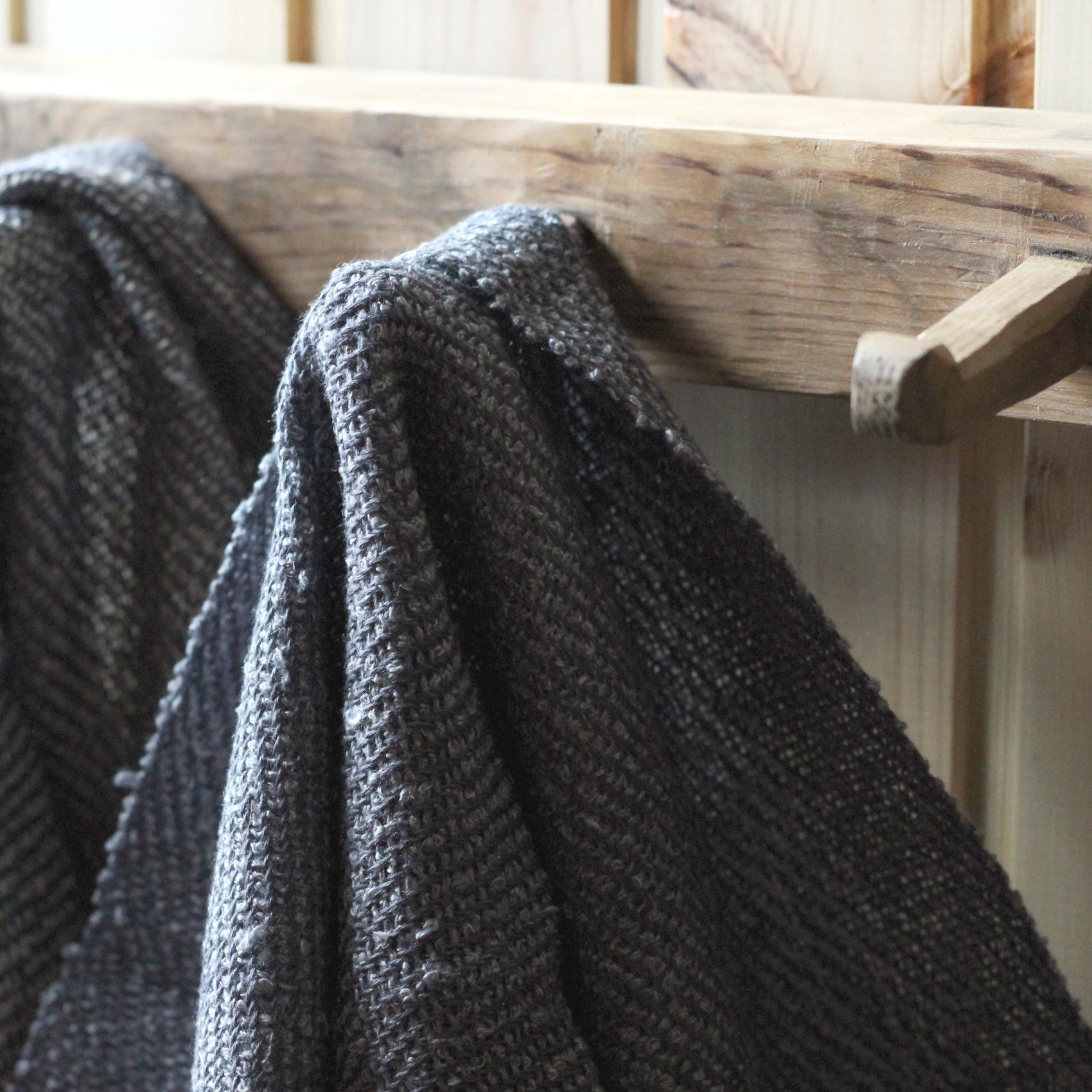 Linen sauna towels.
