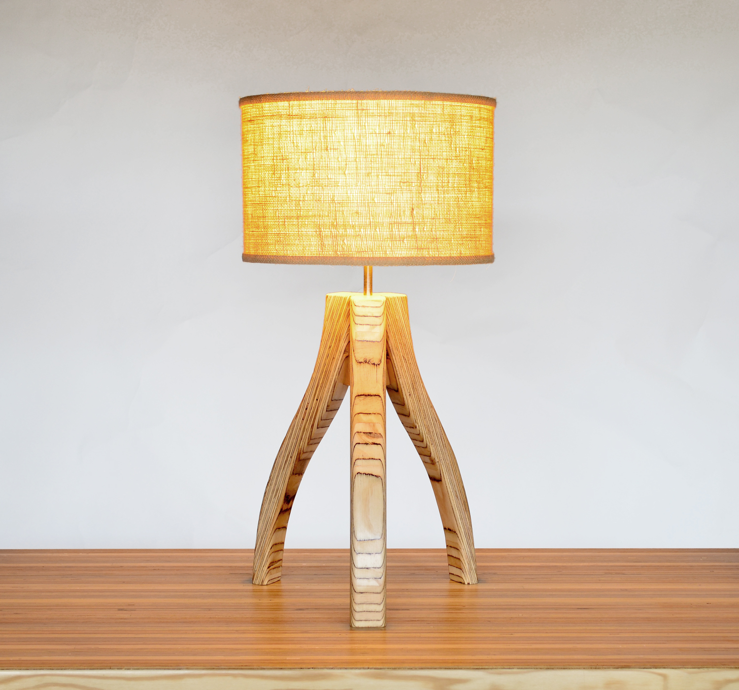 Three legged lamp