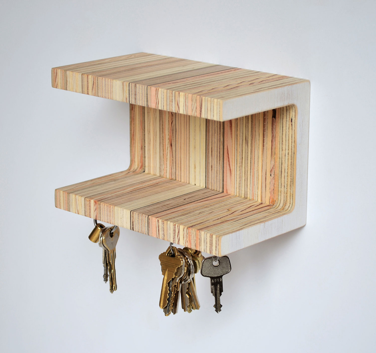 Magnetic key shelf