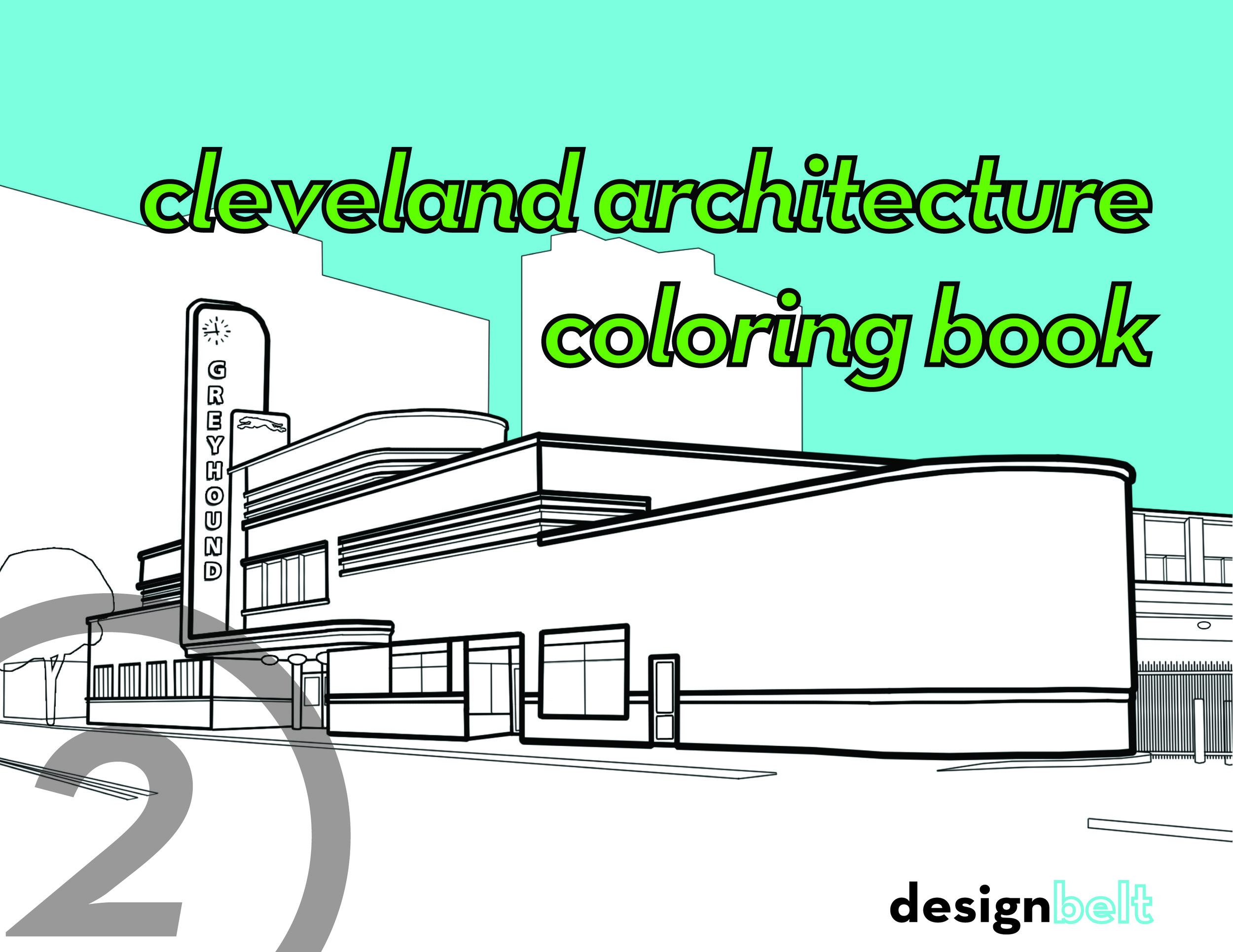 CLEVELAND ARCHITECTURE COLORING BOOK   2nd Edition   > See More