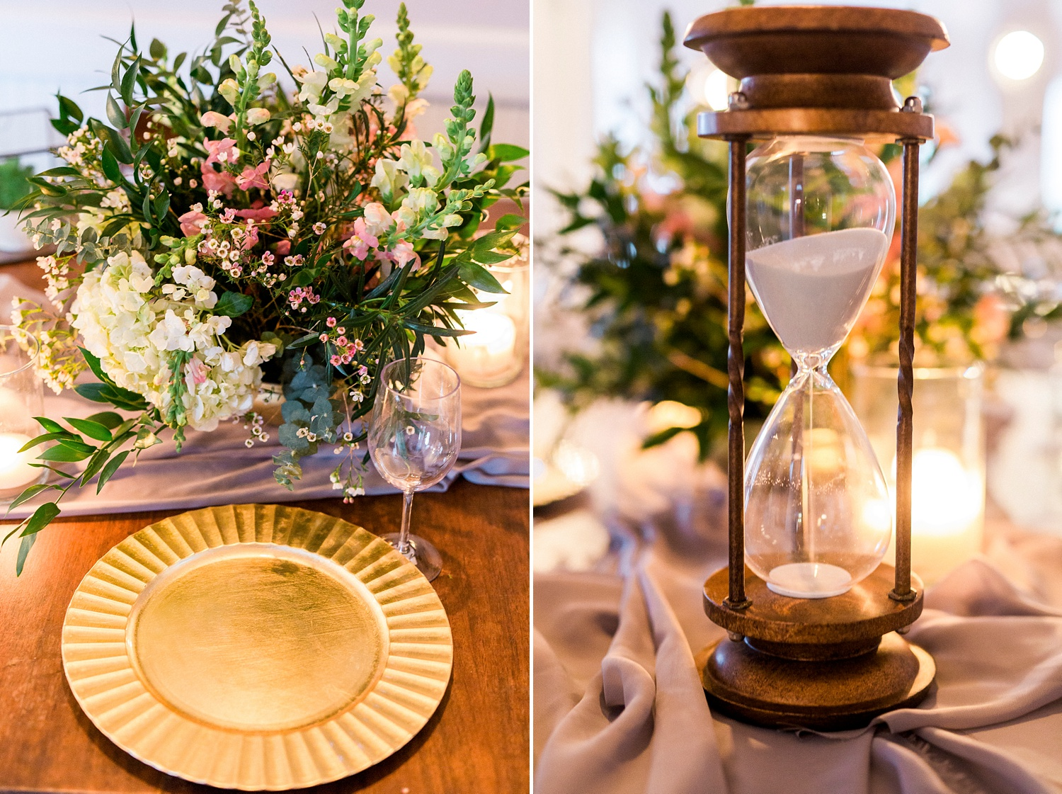 bohemian styled wedding table setting