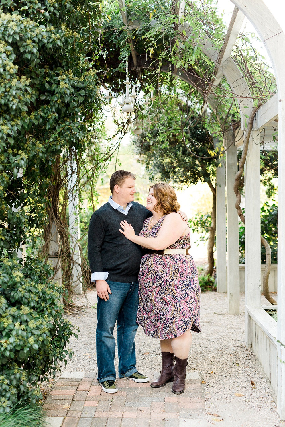 Engagement Session at NC State's JC Raulston Arboretum in Raleigh, NC