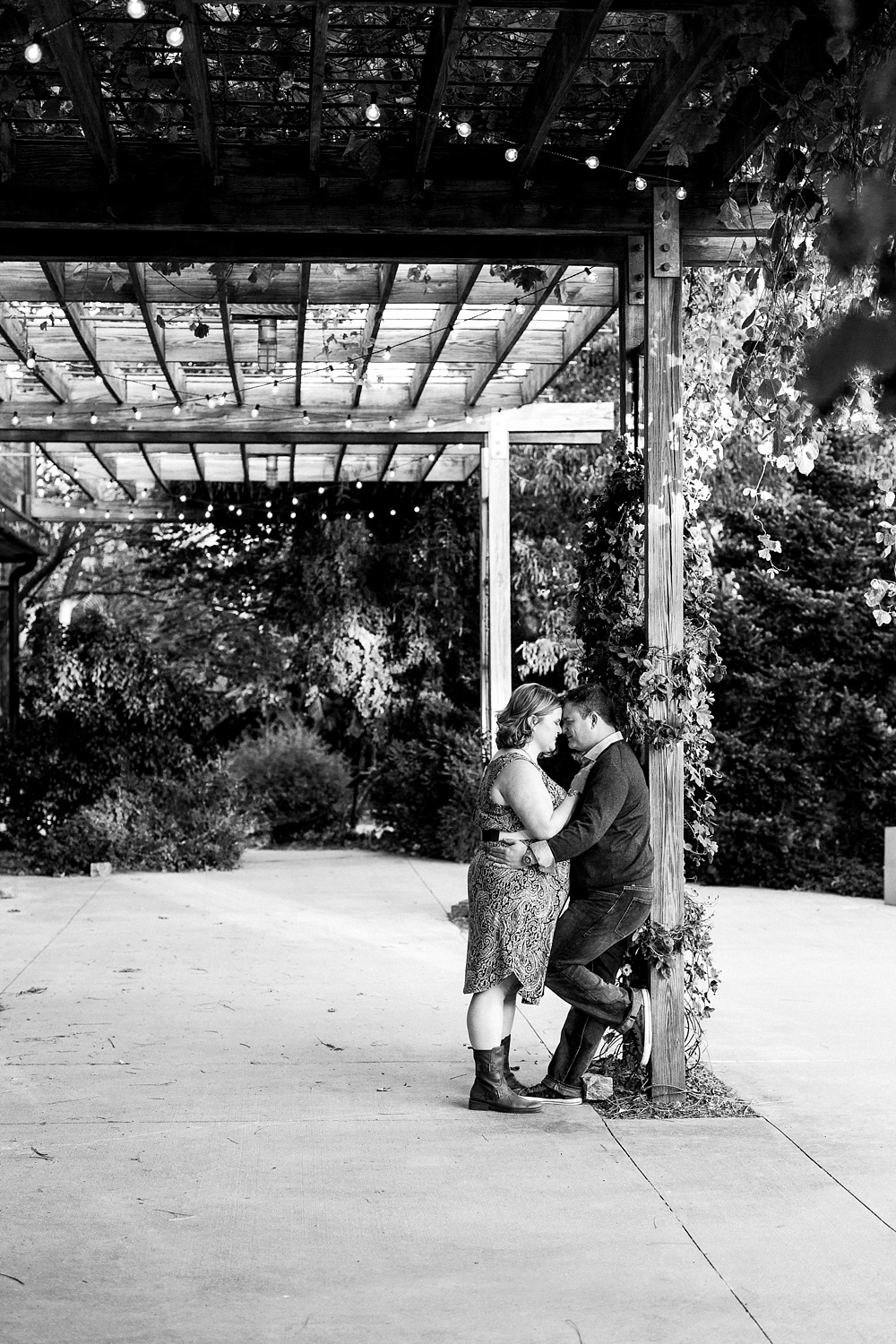 Raleigh NC Garden Engagement Session