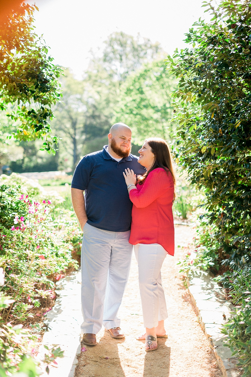 Raleigh garden engagement session