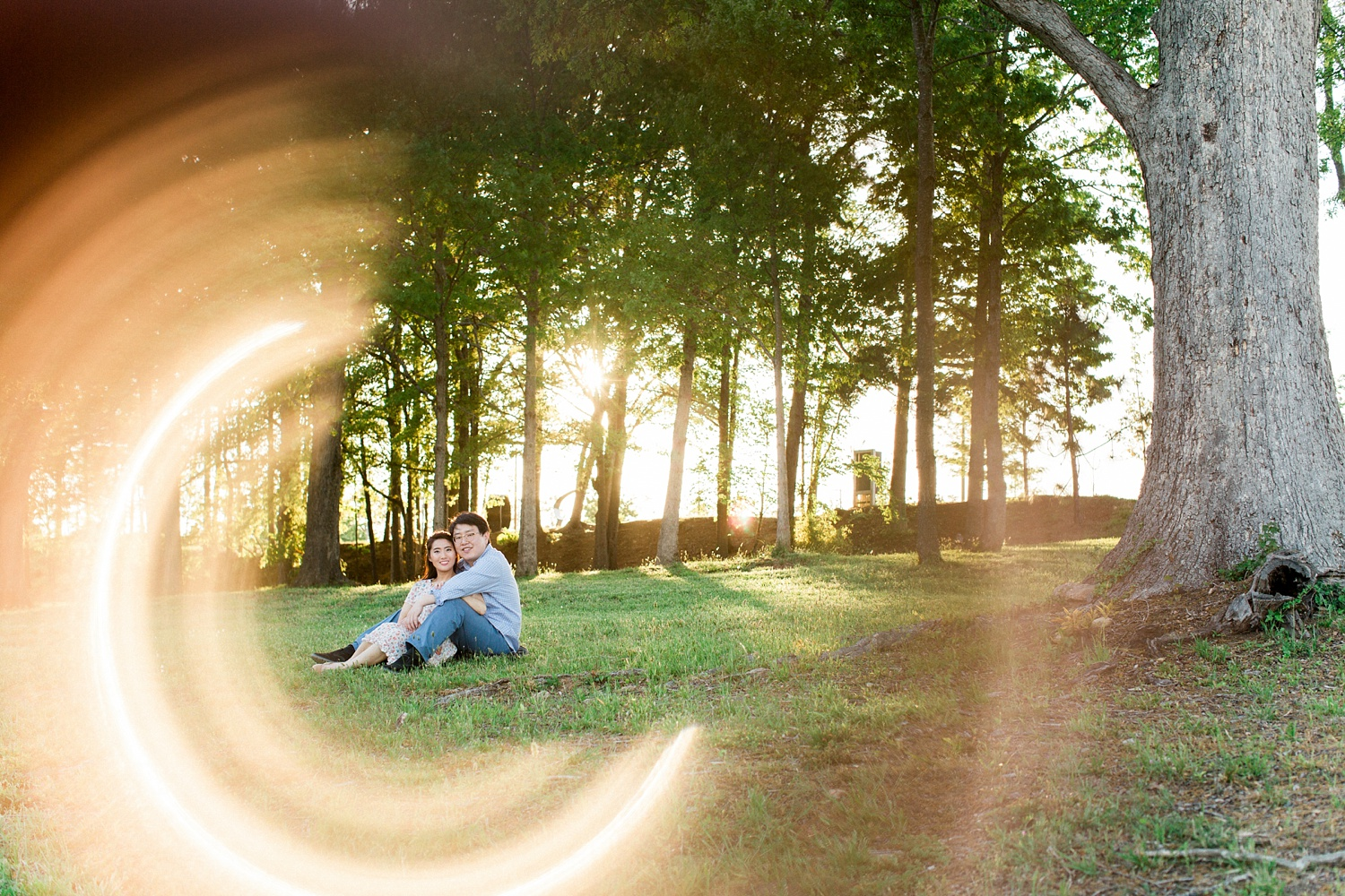ring of fire engagement session photo