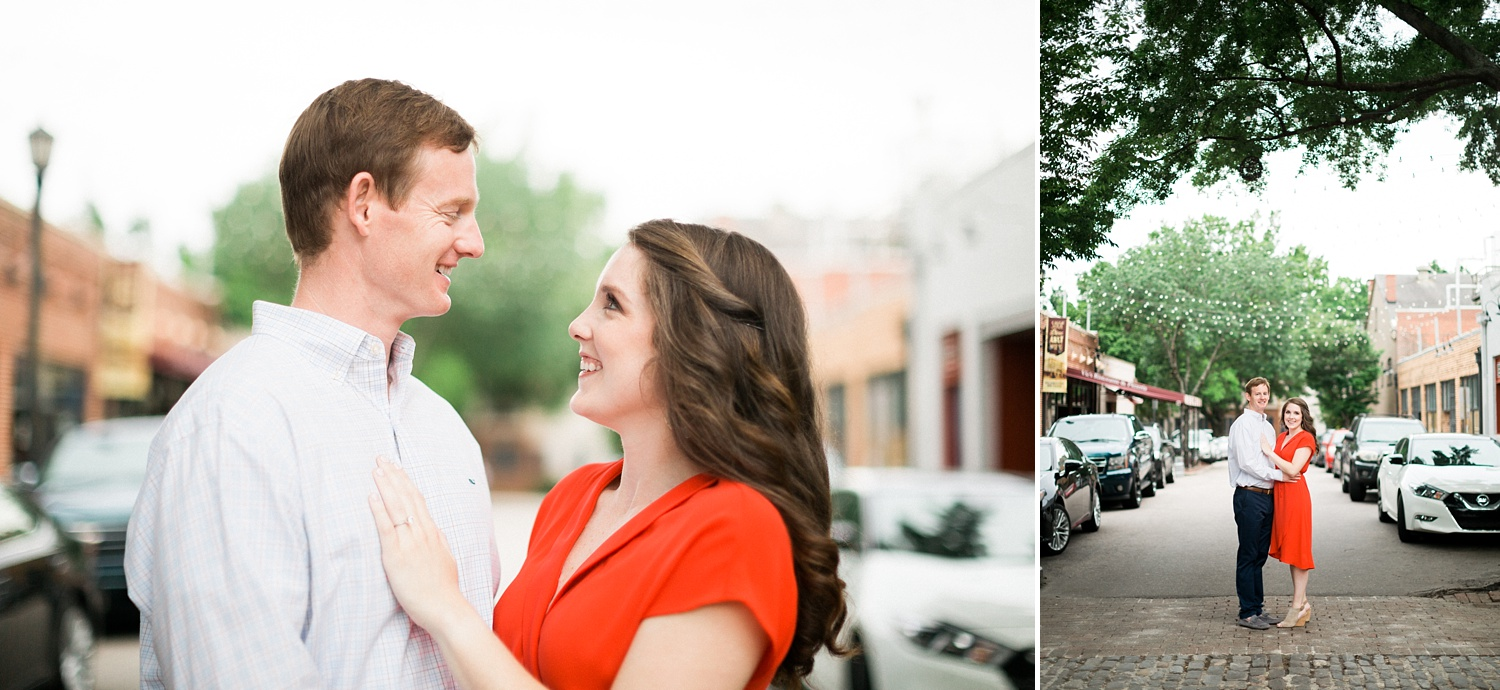 city market raleigh nc engagement session