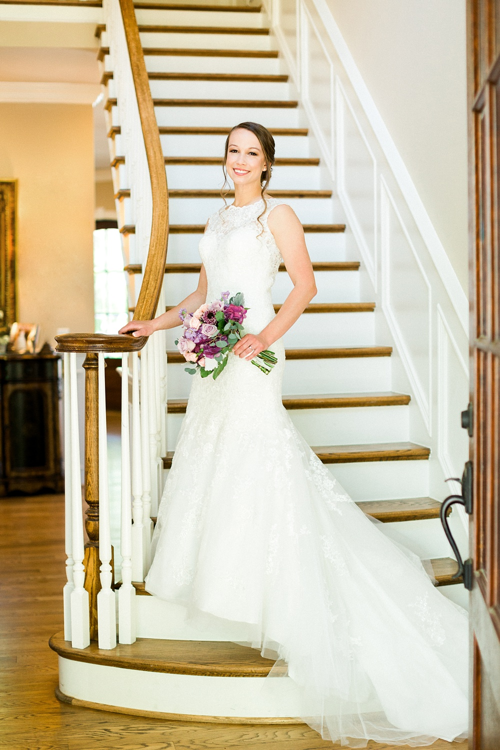 bridal portrait on a staircase
