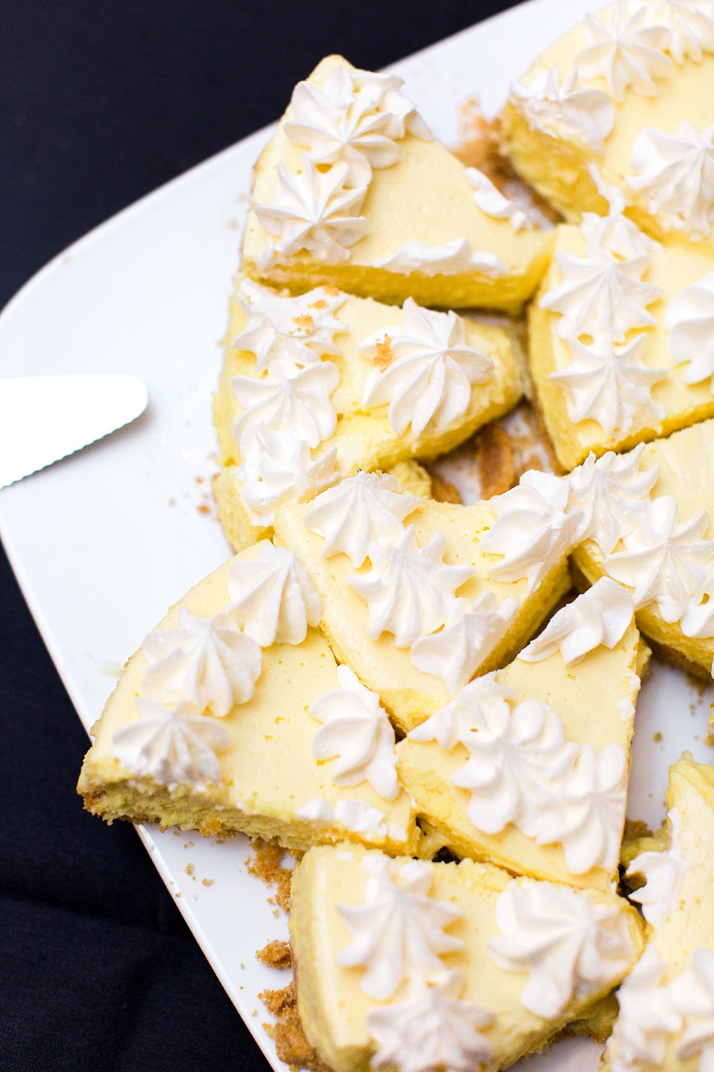 platter of key lime pie slices