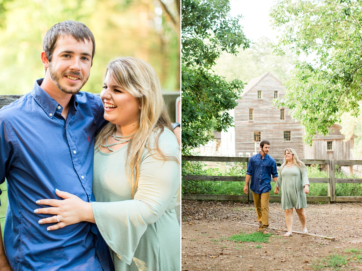 raleigh historic mill engagement session