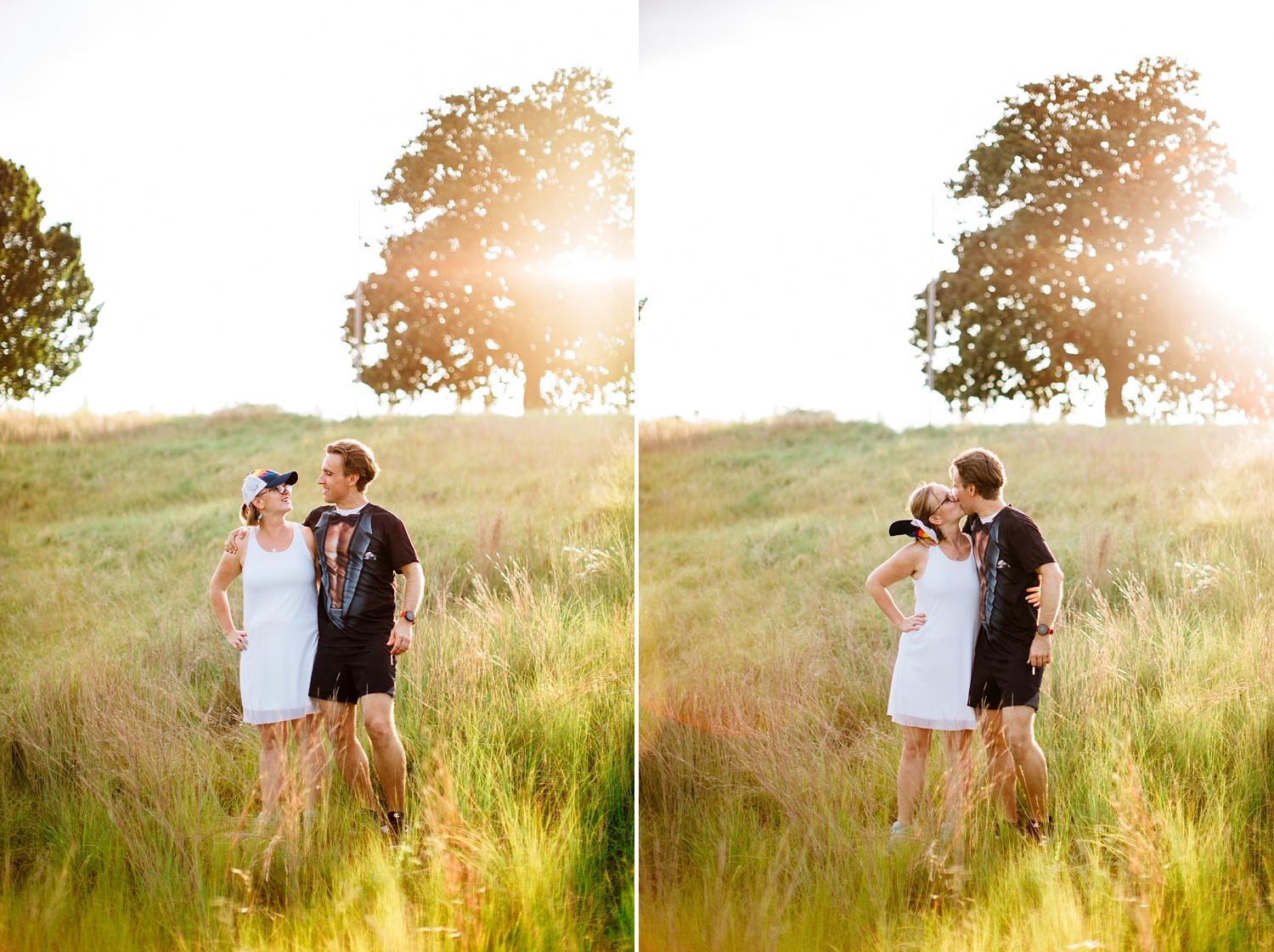 running themed engagement session at nc park